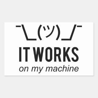 それは私の機械-プログラマー弁解の黒で動作します 長方形シール