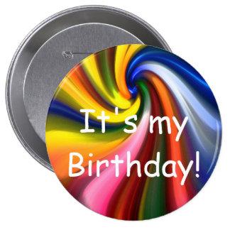 それは私の誕生日です! ボタン 10.2CM 丸型バッジ