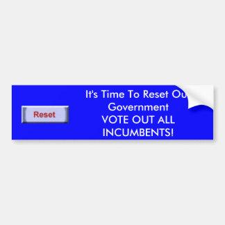 それは私達の政府を再調節する時間です! バンパーステッカー