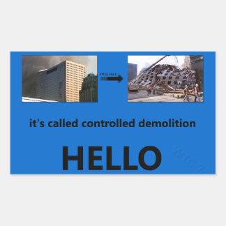 それは管理された破壊を、こんにちは呼びました 長方形シール