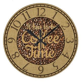 それは素朴なコーヒー時間でなければなりません ラージ壁時計