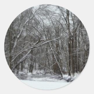 それは美しい冬です ラウンドシール