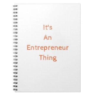 それは起業家の事のノートです ノートブック
