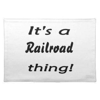 それは鉄道事です! ランチョンマット