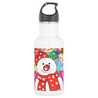 それは雪の時間です! メリークリスマス、雪の子供 ウォーターボトル