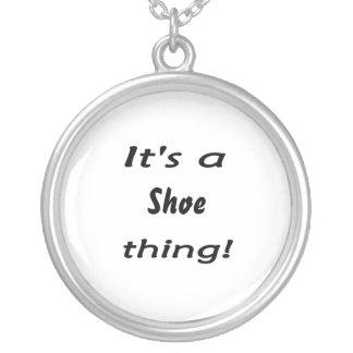 それは靴の事です! シルバープレートネックレス