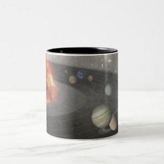 それは音楽的な宇宙です ツートーンマグカップ