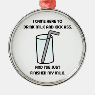 それは飲み物のミルクを混雑させます メタルオーナメント