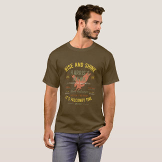 それは鷹狩の時間です! ハリスのタカ Tシャツ
