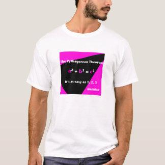 それは1、2の3つの暗い赤紫色メンズTシャツ容易です Tシャツ