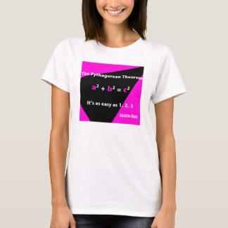 それは1、2の3人の暗い赤紫色の女性のTシャツ容易です Tシャツ