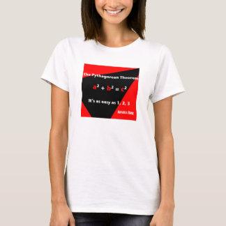 それは1、2の3人の赤い女性のTシャツ容易です Tシャツ