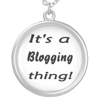 それはblogging事です! シルバープレートネックレス