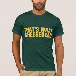 それはCheesehead何です Tシャツ
