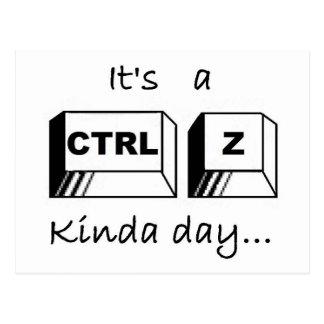 それはCtrlZちょっと日です ポストカード