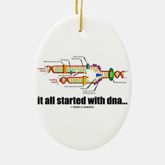 それはDNAから完全に始まりました。 (DNAの写し) セラミックオーナメント