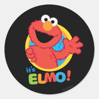 それはElmoです ラウンドシール