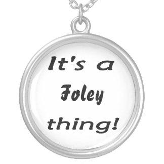 それはfoleyの事です! シルバープレートネックレス
