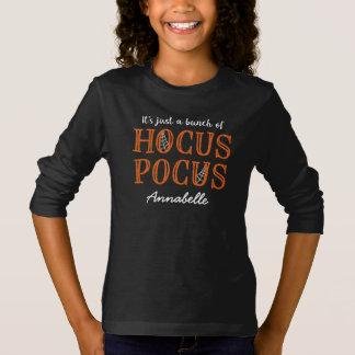 それはHocus Pocusのちょうど名前入りな束-です Tシャツ