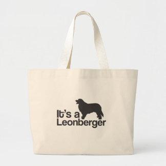 それはLeonbergerです ラージトートバッグ