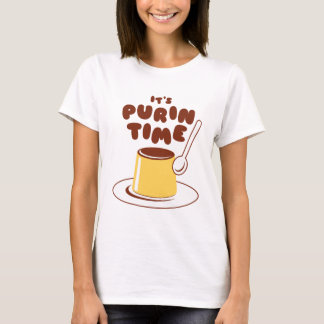 それはPurinの時間(ブラウン)ワイシャツです Tシャツ