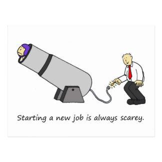 それはscareyで新しい仕事、サーカスの大砲を始めます ポストカード