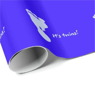 それはTwk sの青い足跡の包装紙です ラッピングペーパー