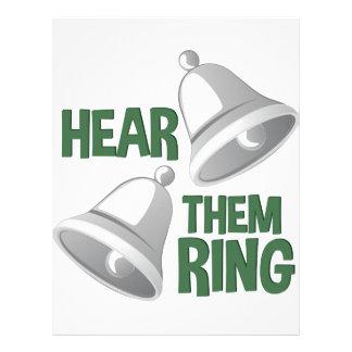 それらが鳴るのを聞いて下さい レターヘッド
