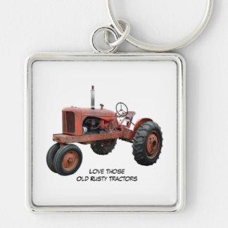 それらの古い錆ついたトラクターを愛して下さい キーホルダー