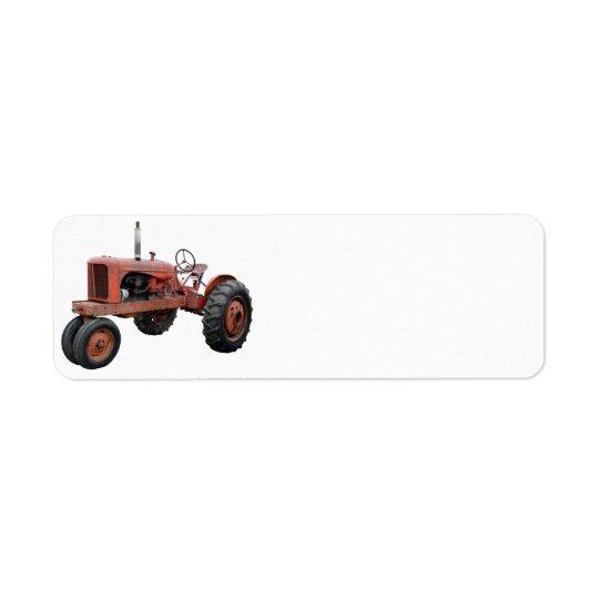 それらの古い錆ついたトラクターを愛して下さい 返信用宛名ラベル