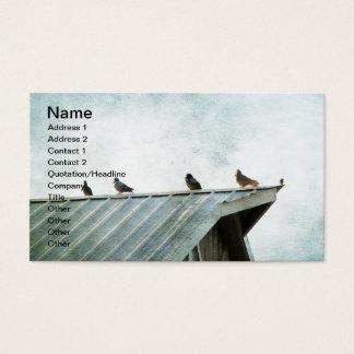 それらの1つは、4羽のハト及び1羽のすずめ属しません 名刺