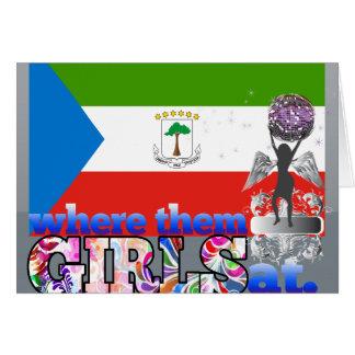 それらのEquatoguineanの女の子か。 カード