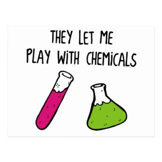 それらは私が化学薬品と遊ぶことを可能にしました ポストカード