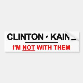 それらを持つクリントンKaineない バンパーステッカー