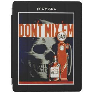 """""""それらを""""ヴィンテージの芸術カスタムな装置カバー混合しないで下さい iPadスマートカバー"""