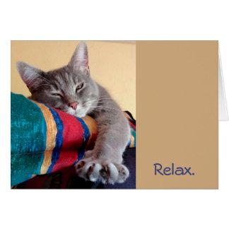 …それをあります猫のテーマの別れの退職カードがリラックスして下さい カード