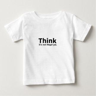 それをありません違法けれども政治ギアが考えて下さい ベビーTシャツ