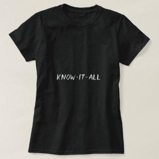 それをおもしろいなすべてのタイポグラフィ知って下さい Tシャツ