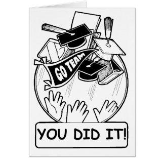 それをしました! 卒業カード カード