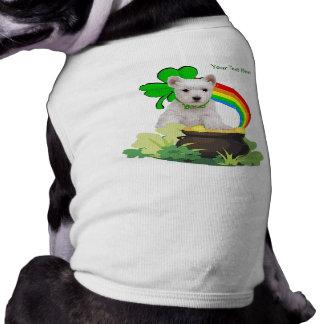 それをカスタマイズ! Westieの子犬のセントパトリックのデザイン ペット服