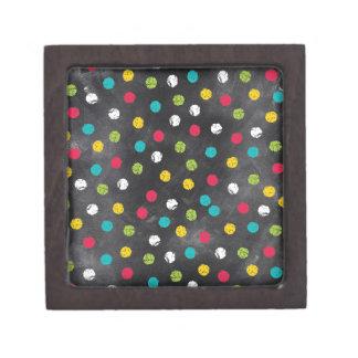 それをチョークで書いて下さい! 虹の水玉模様-黒板のプリント ギフトボックス