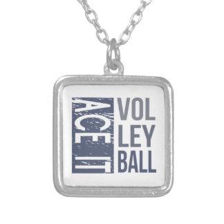 それをバレーボールのネックレス楽勝で突破して下さい シルバープレートネックレス