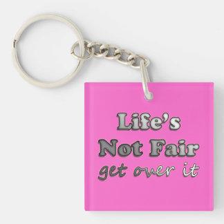 -それを乗り越えて下さい-ピンクで…公平ではない生命 キーホルダー