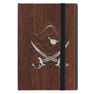 それを個人化して下さい! 航海のなマホガニーの海賊スカルをぬらして下さい iPad MINI ケース