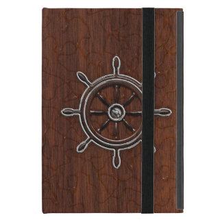 それを個人化して下さい! 航海のなマホガニーの車輪をぬらして下さい iPad MINI ケース