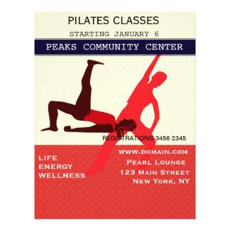 それを働かせて下さい! Pilatesのヨガのエクササイズのトレーニング チラシ
