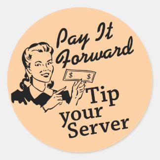 それを先に支払って下さい、あなたのサーバーをひっくり返して下さい ラウンドシール