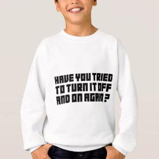 それを再度そしてつけて下さい スウェットシャツ