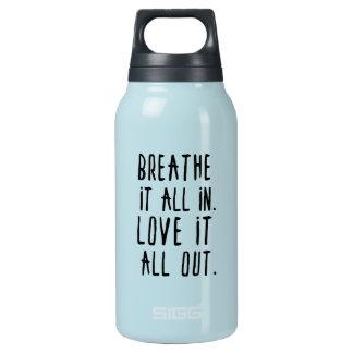 それを呼吸して下さい及びタンブラー愛して下さい 断熱ウォーターボトル