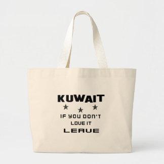 それを愛さなければクウェート、許可 ラージトートバッグ